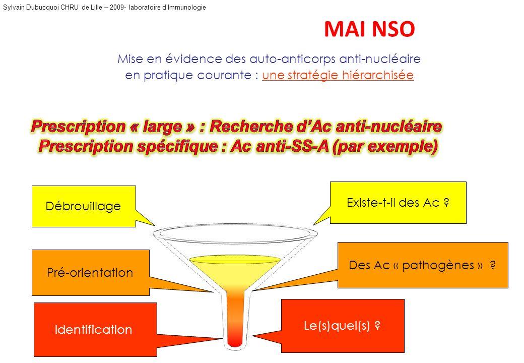 MAI NSO Prescription « large » : Recherche d'Ac anti-nucléaire