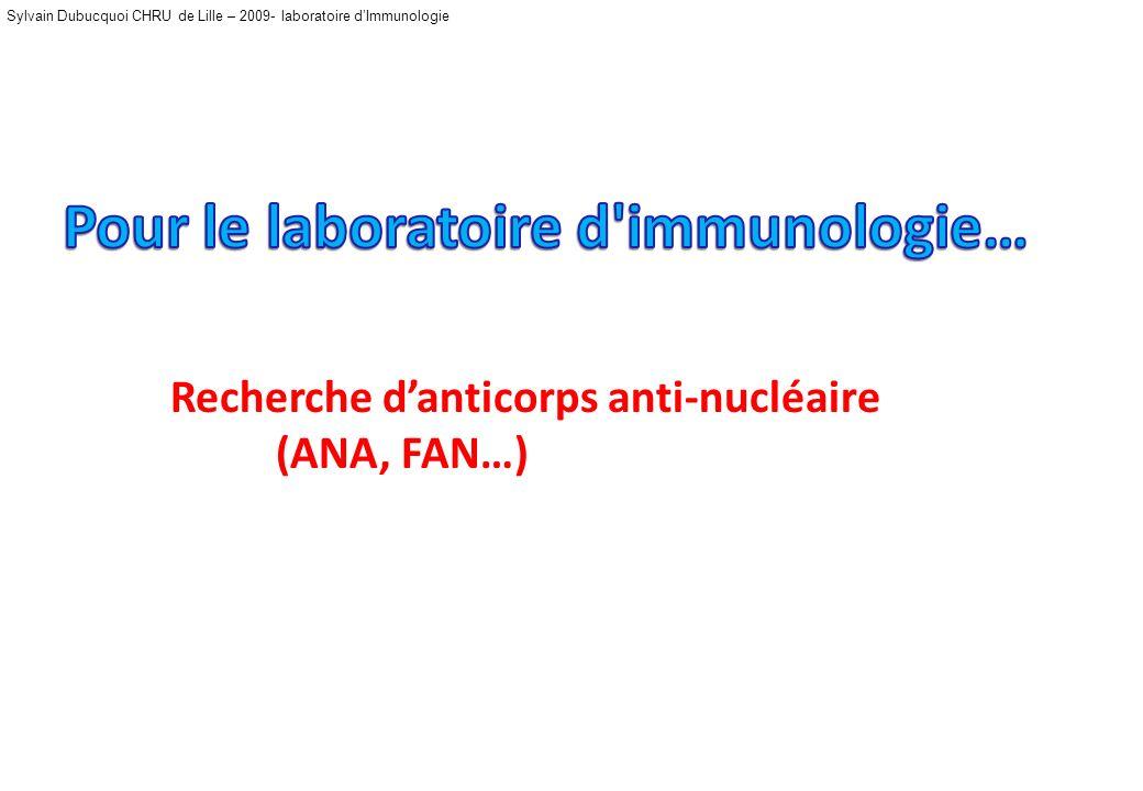 Pour le laboratoire d immunologie…