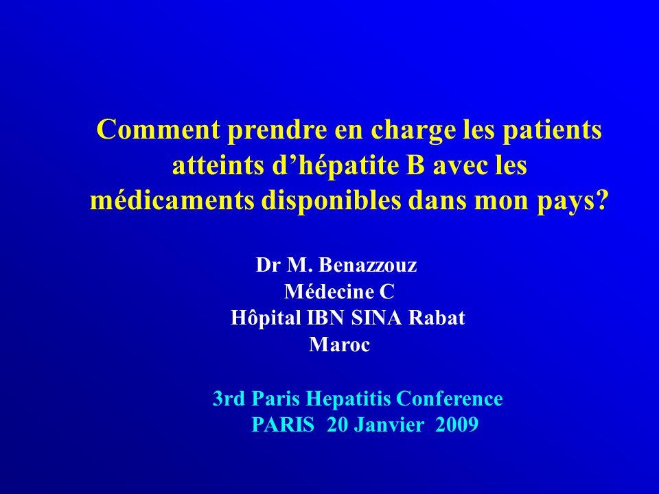 Comment prendre en charge les patients atteints d'hépatite B avec les médicaments disponibles dans mon pays