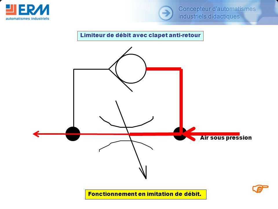 F Limiteur de débit avec clapet anti-retour Air sous pression