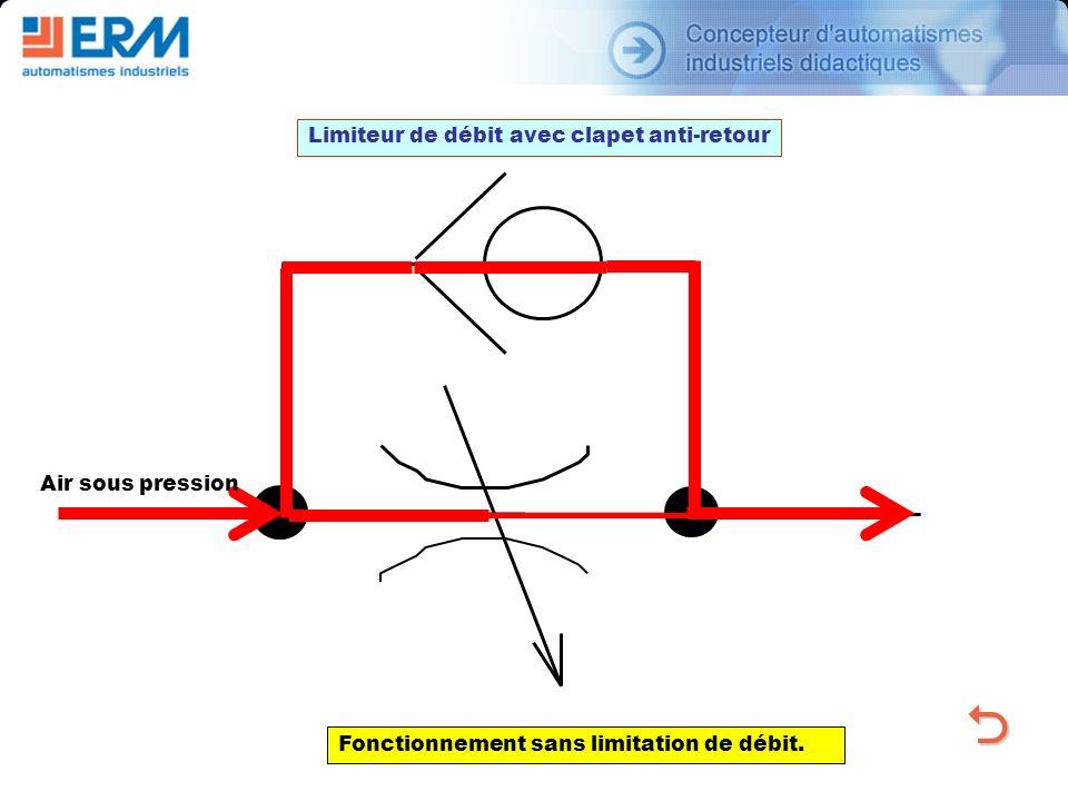 O Limiteur de débit avec clapet anti-retour Air sous pression