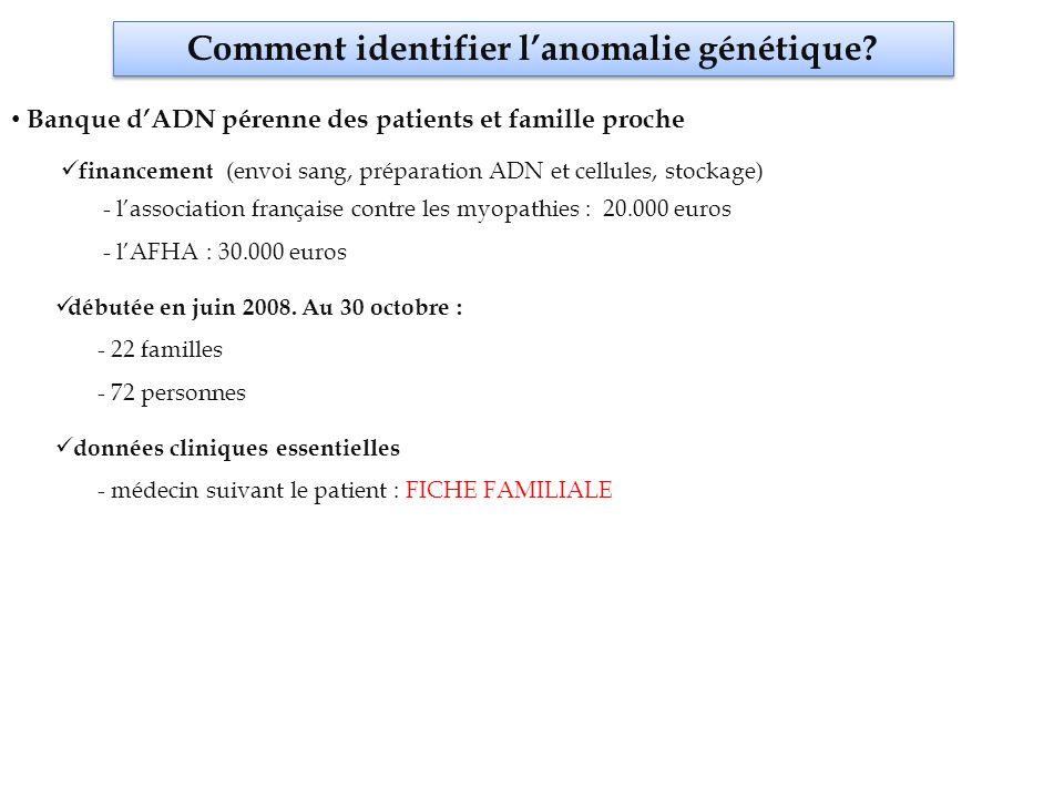 Comment identifier l'anomalie génétique