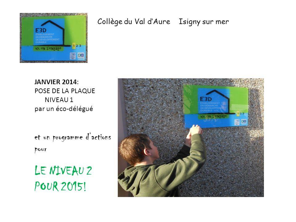 LE NIVEAU 2 POUR 2015! et un programme d'actions pour