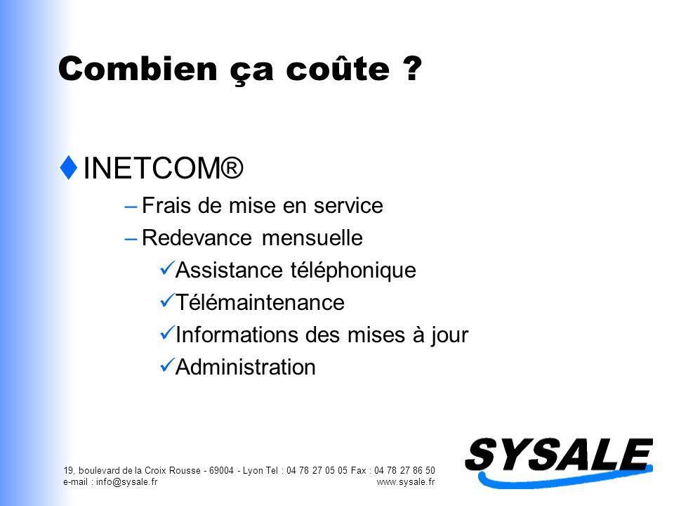 Combien ça coûte INETCOM® Frais de mise en service