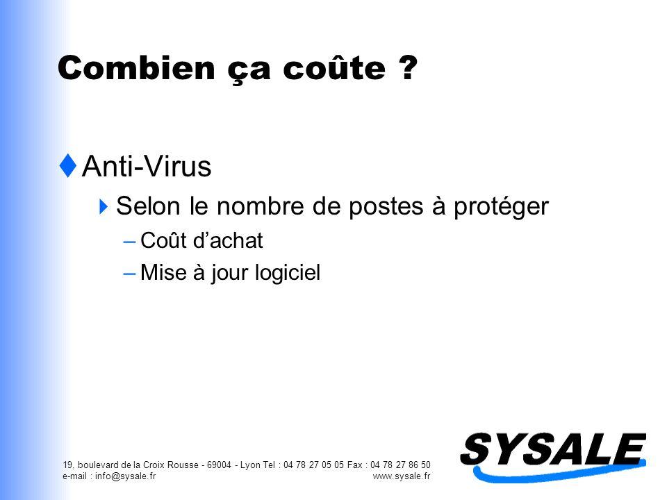Combien ça coûte Anti-Virus Selon le nombre de postes à protéger