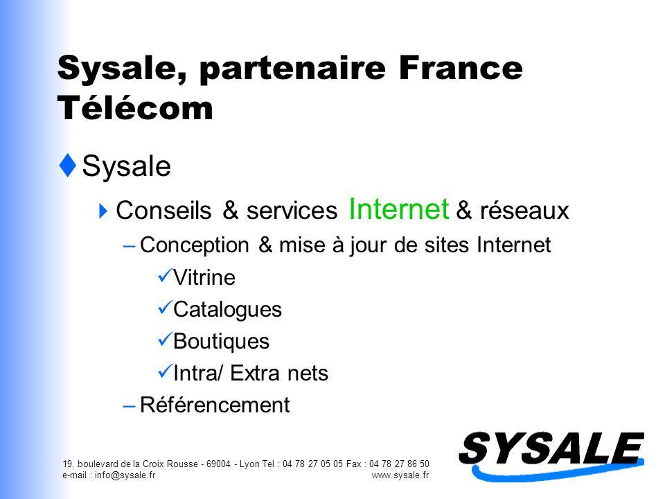 Sysale, partenaire France Télécom