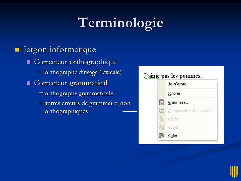 Terminologie Jargon informatique Correcteur orthographique