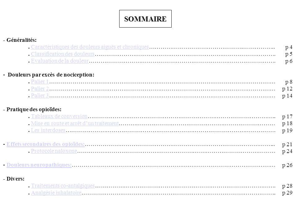 SOMMAIRE - Généralités: