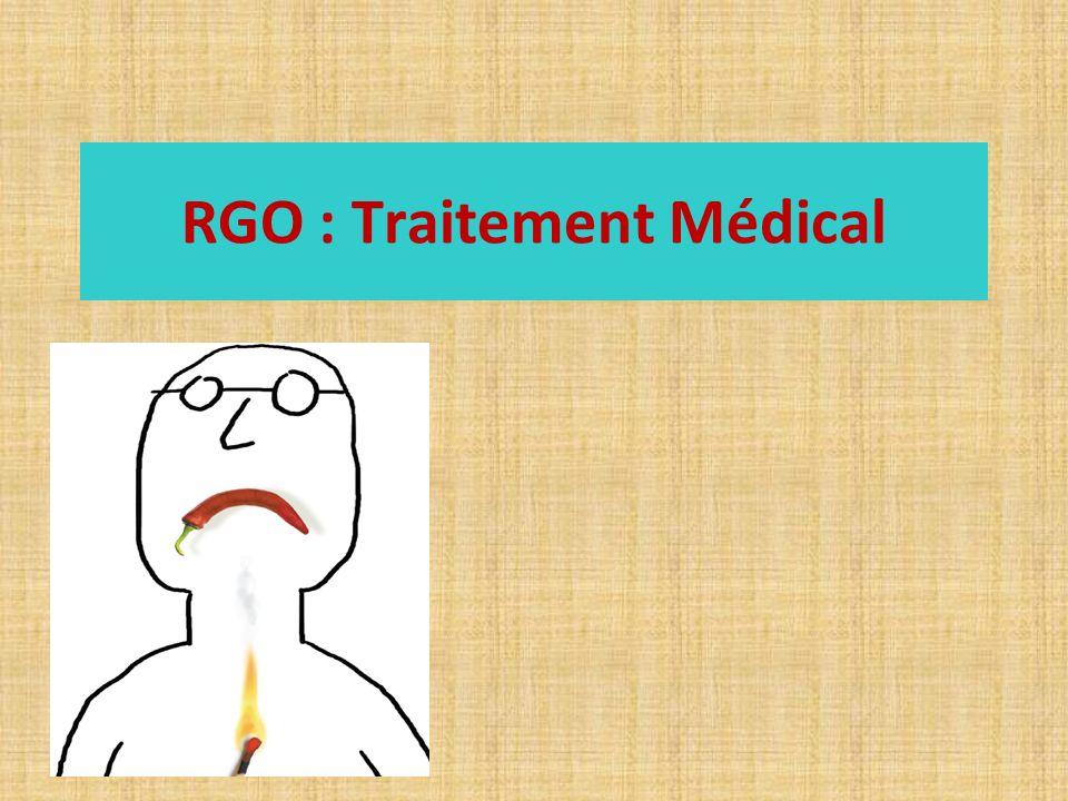 RGO : Traitement Médical