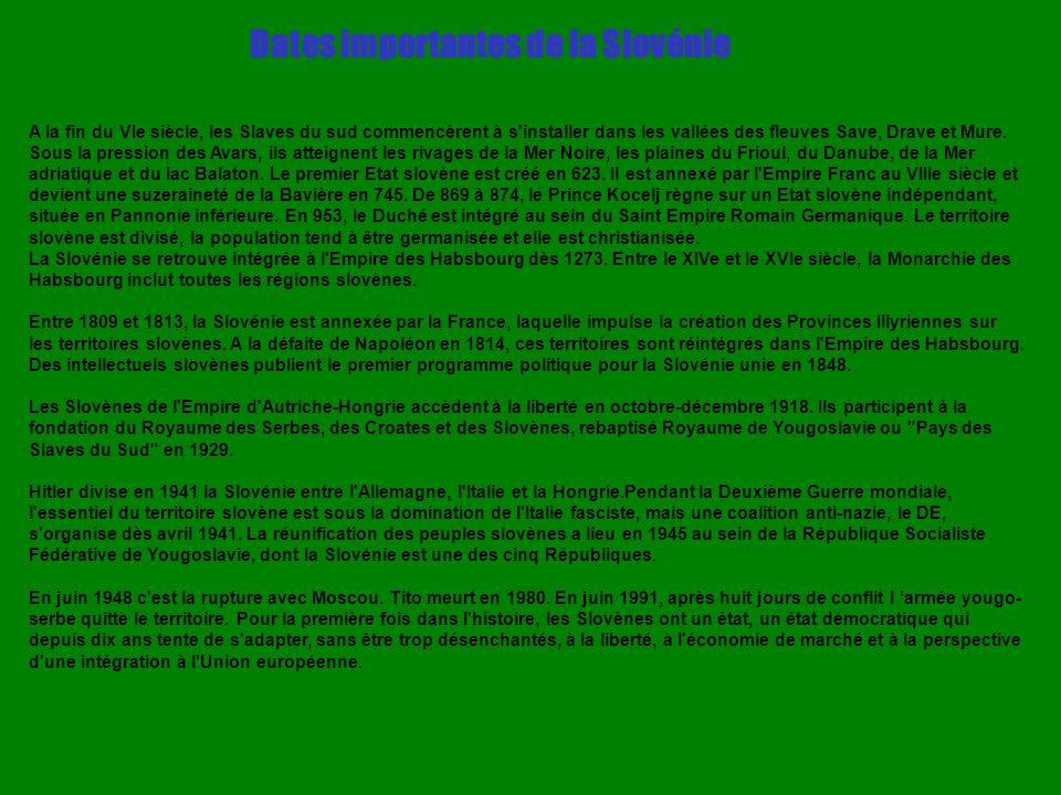 Dates importantes de la Slovénie