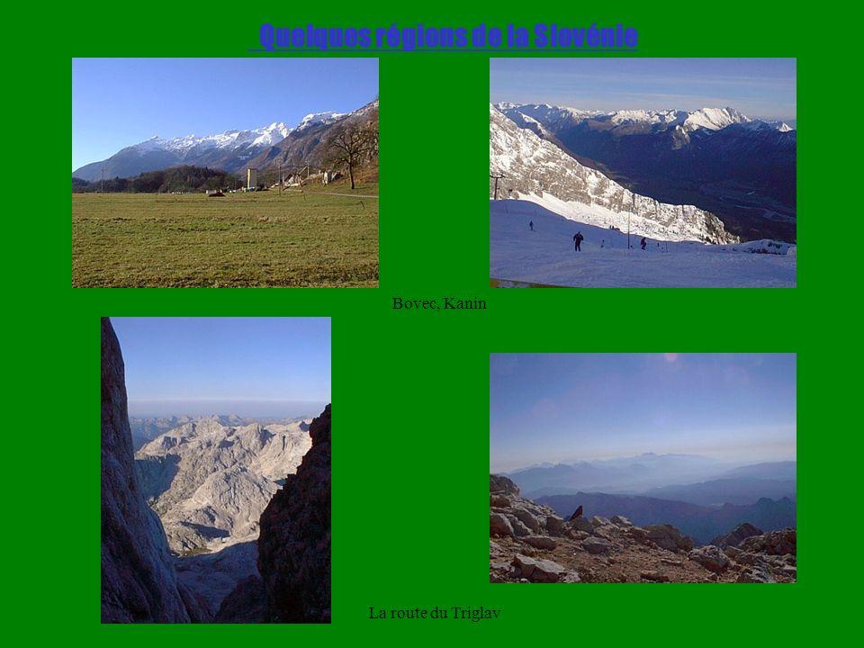 Quelques régions de la Slovénie