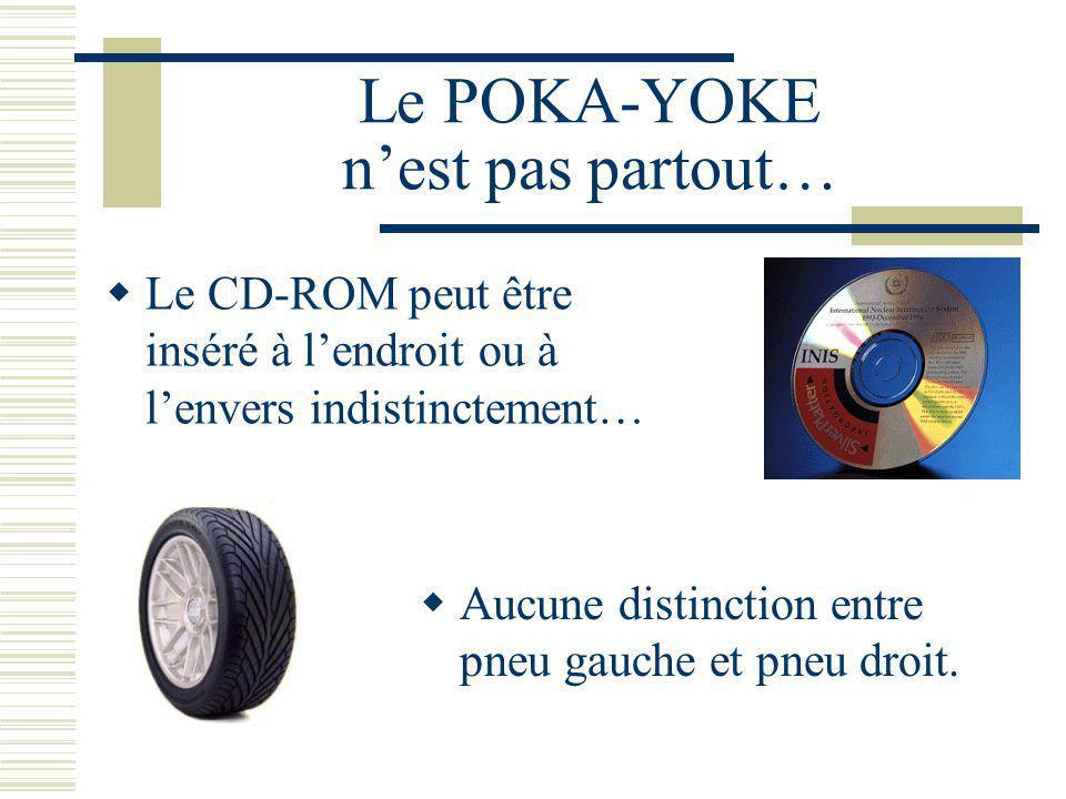 Le POKA-YOKE n'est pas partout…