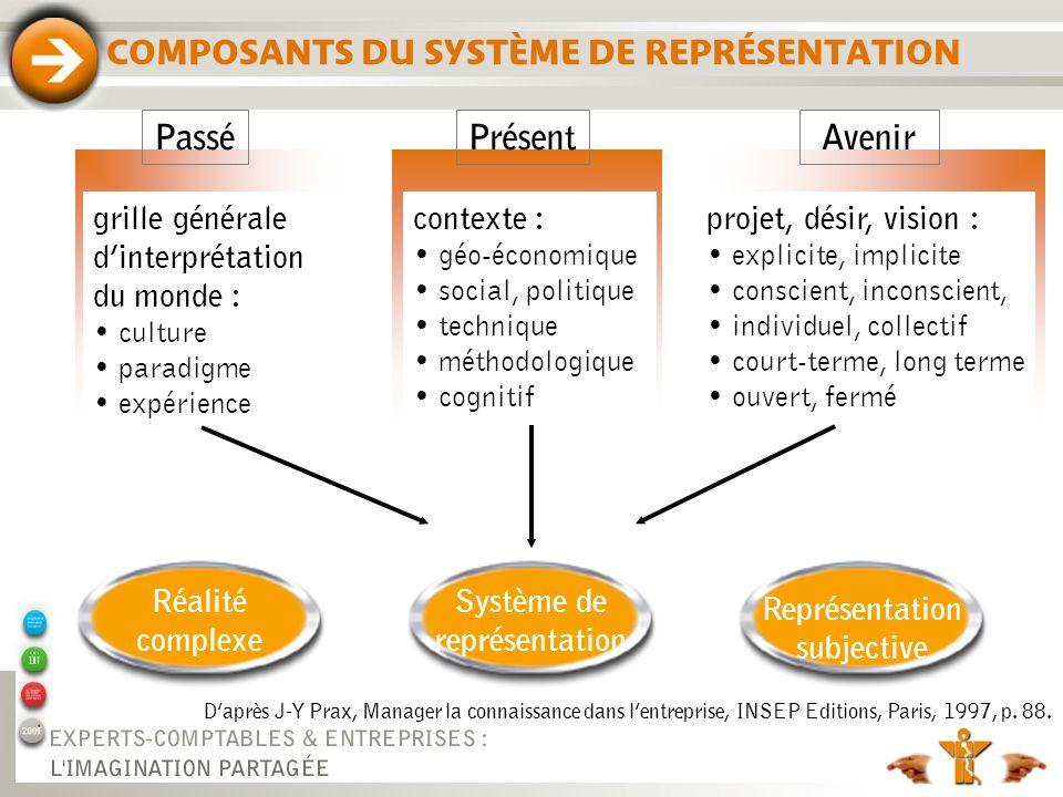 COMPOSANTS DU SYSTÈME DE REPRÉSENTATION