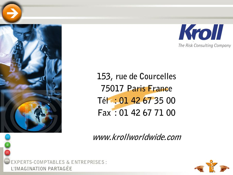 153, rue de Courcelles 75017 Paris France. Tél : 01 42 67 35 00.