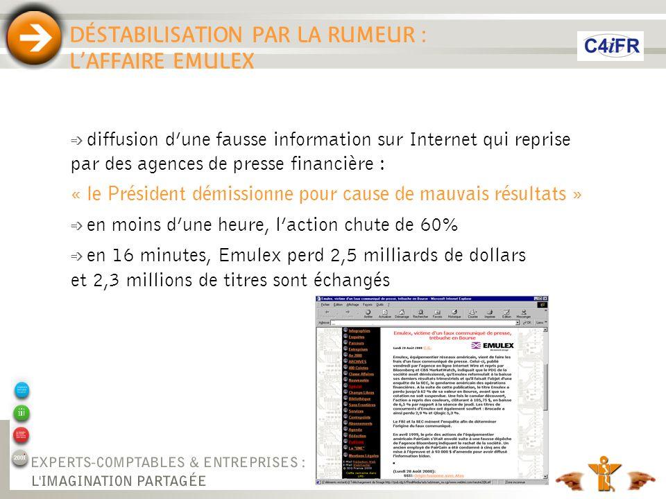 DÉSTABILISATION PAR LA RUMEUR : L'AFFAIRE EMULEX