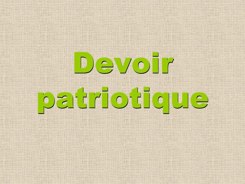 Devoir patriotique