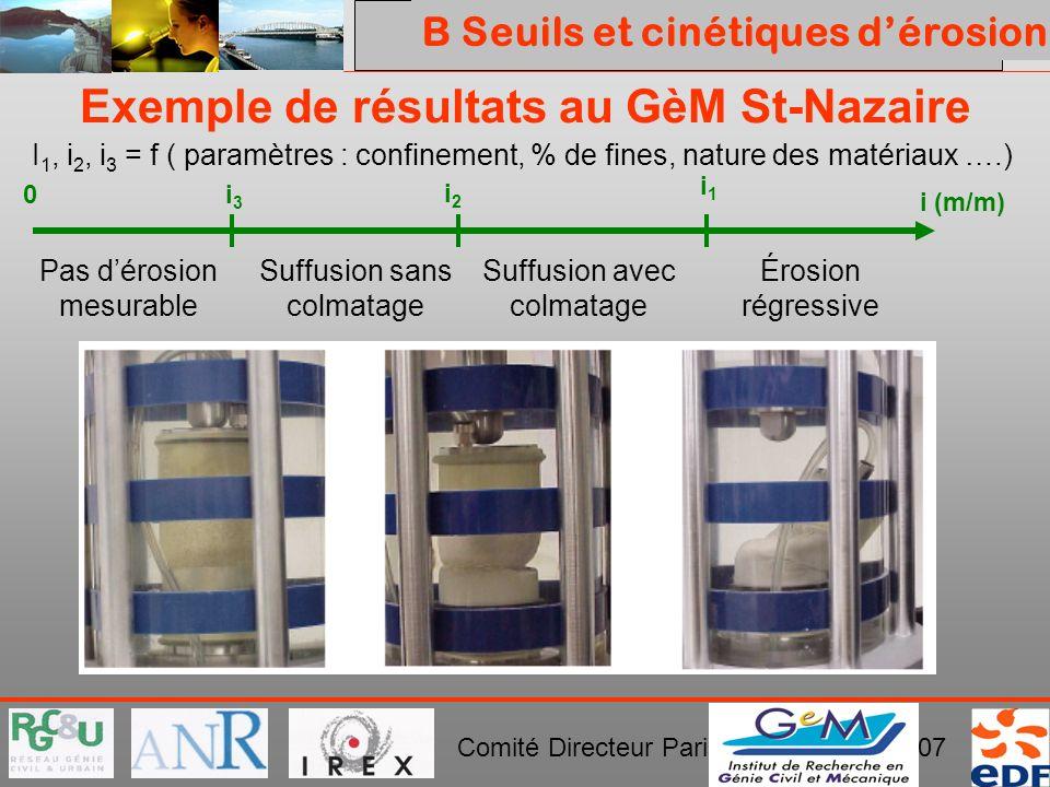 Exemple de résultats au GèM St-Nazaire