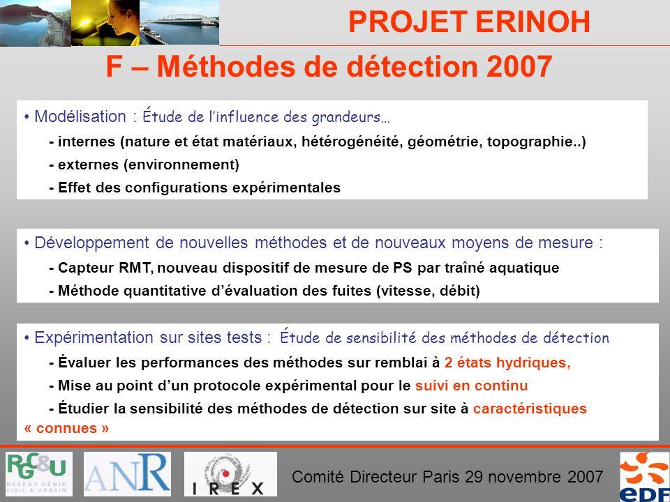 F – Méthodes de détection 2007