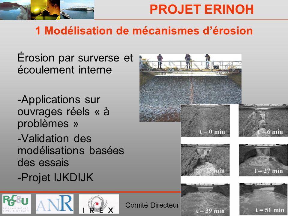 1 Modélisation de mécanismes d'érosion