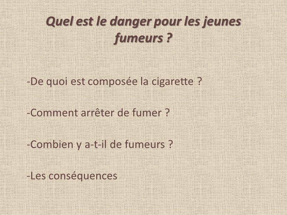 Quel est le danger pour les jeunes fumeurs