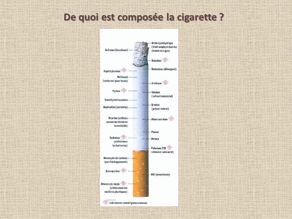 De quoi est composée la cigarette