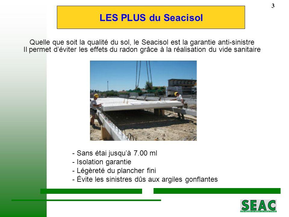 29/08/11 3. LES PLUS du Seacisol. Quelle que soit la qualité du sol, le Seacisol est la garantie anti-sinistre.