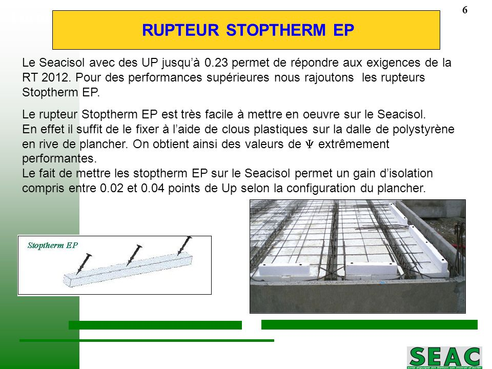 Formation plancher RUPTEUR STOPTHERM EP