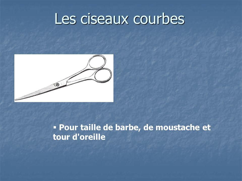 Les ciseaux courbes Pour taille de barbe, de moustache et