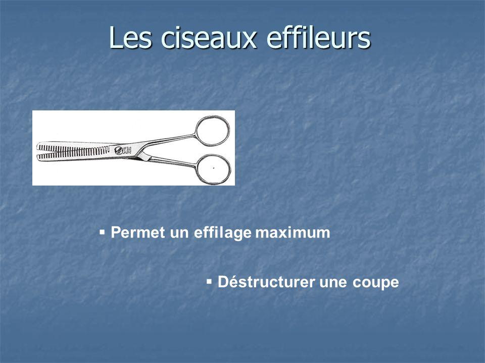 Les ciseaux effileurs Permet un effilage maximum