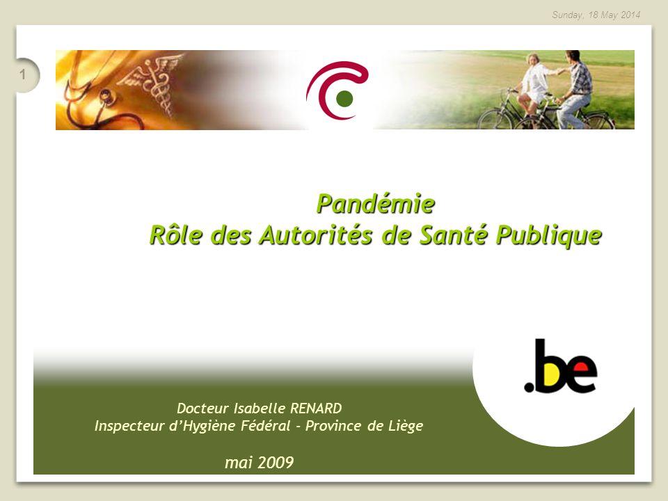 Rôle des Autorités de Santé Publique