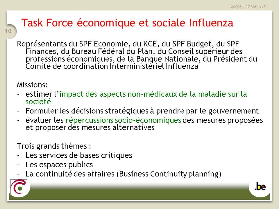 Task Force économique et sociale Influenza