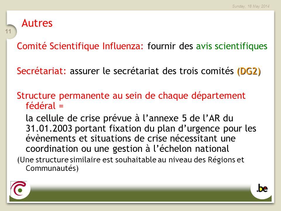 Autres Comité Scientifique Influenza: fournir des avis scientifiques
