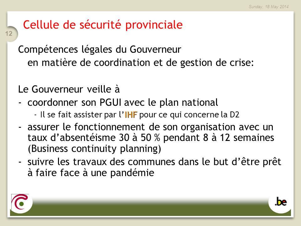 Cellule de sécurité provinciale