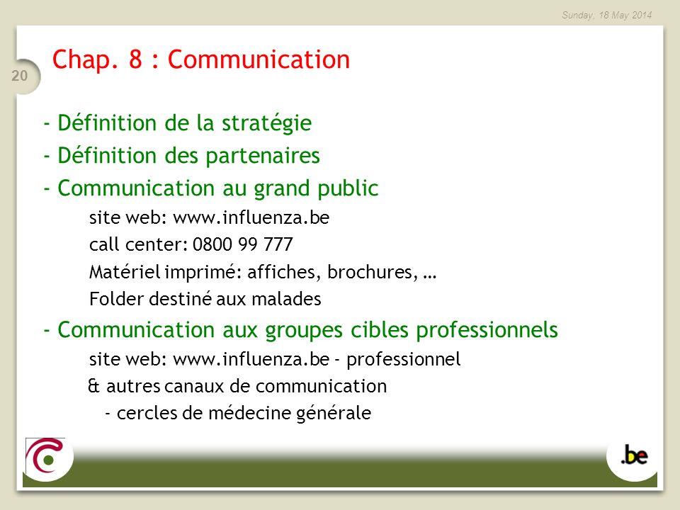 Chap. 8 : Communication - Définition de la stratégie