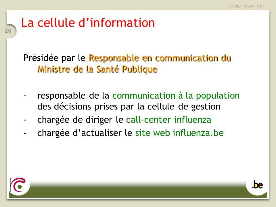 La cellule d'information
