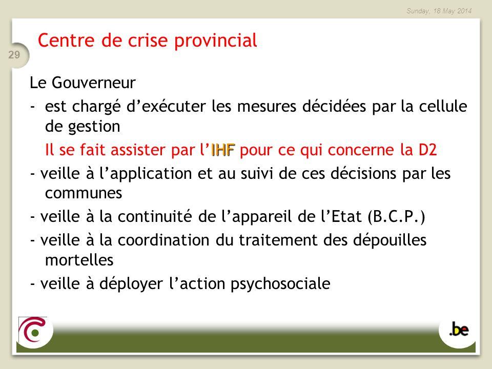 Centre de crise provincial