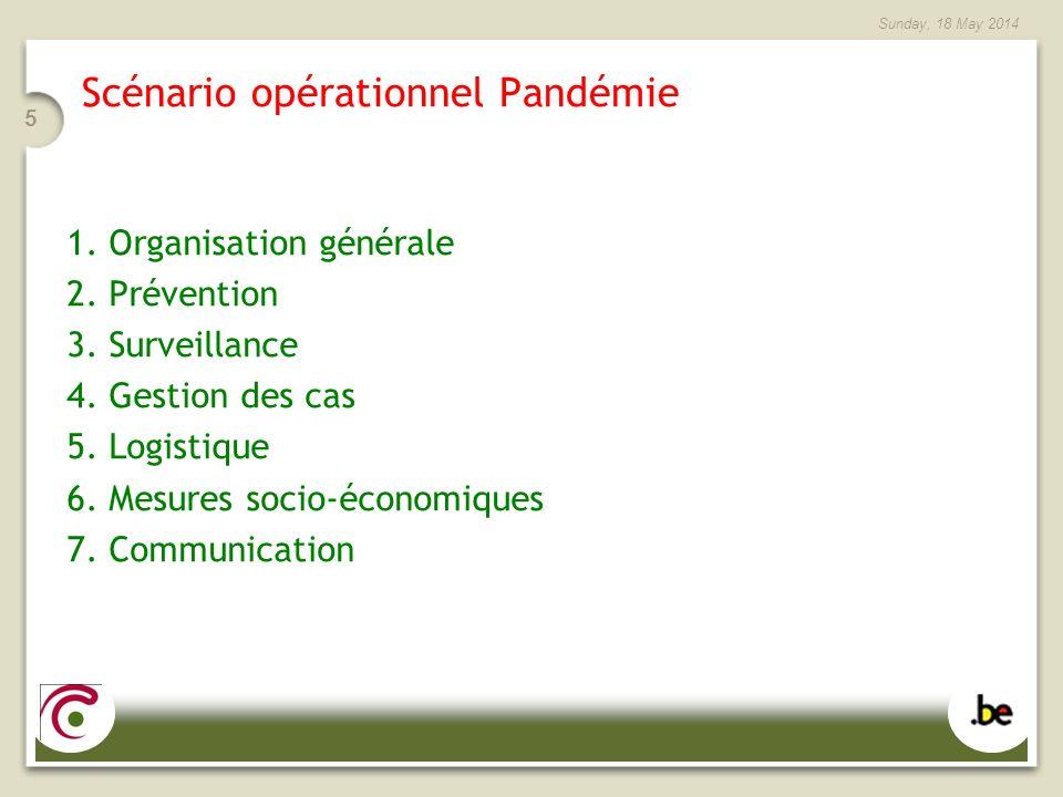 Scénario opérationnel Pandémie