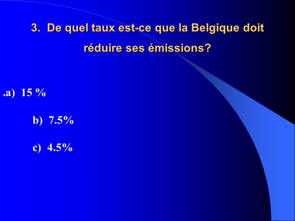 3. De quel taux est-ce que la Belgique doit réduire ses émissions