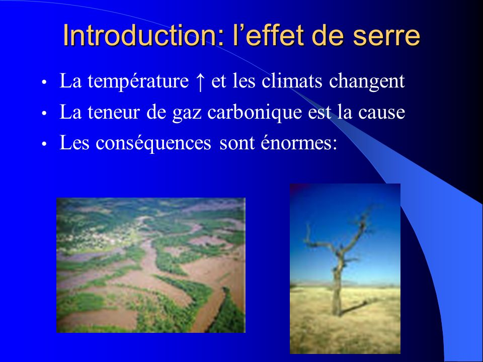 Introduction: l'effet de serre