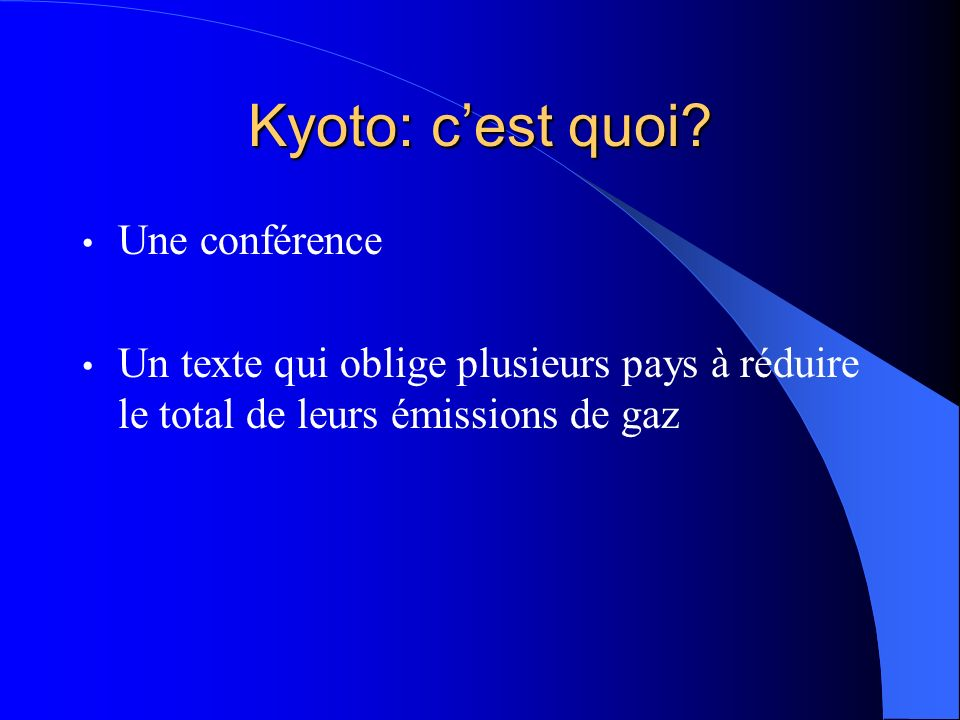 Kyoto: c'est quoi Une conférence