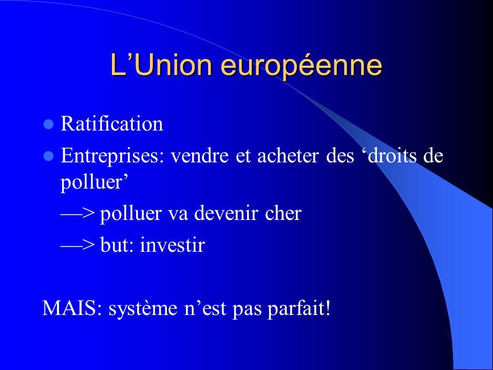 L'Union européenne Ratification