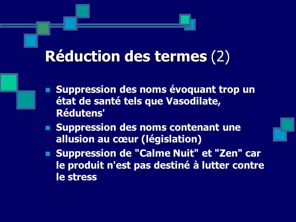 Réduction des termes (2)