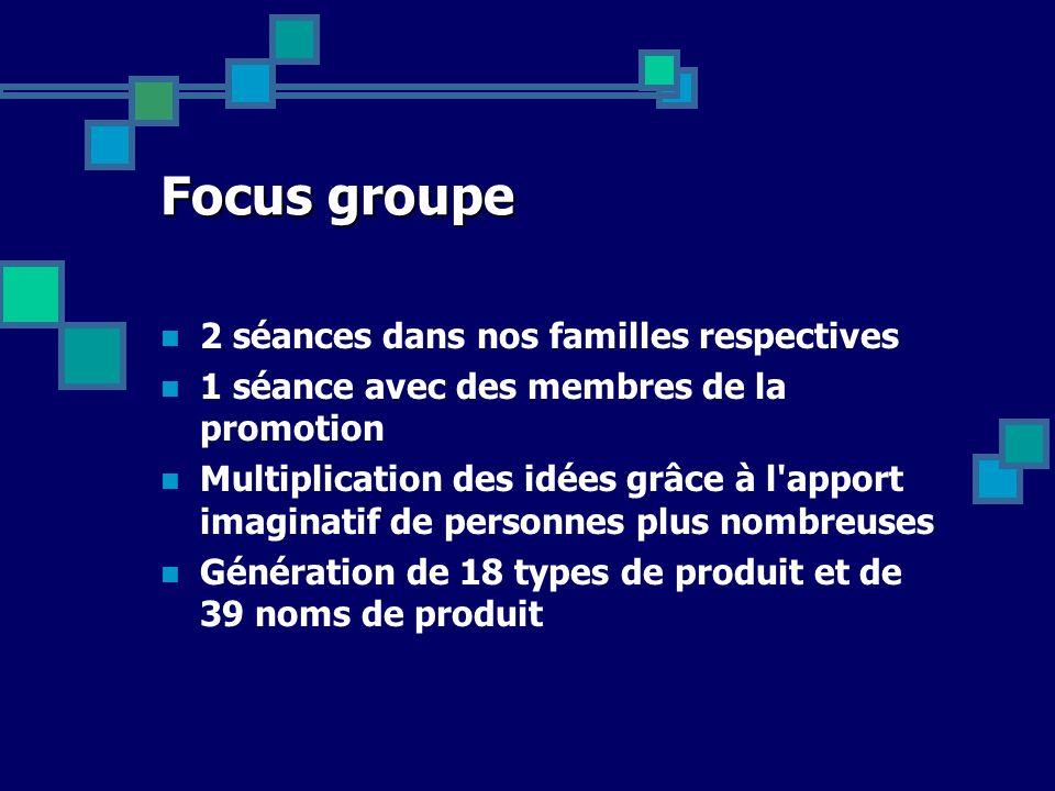 Focus groupe 2 séances dans nos familles respectives