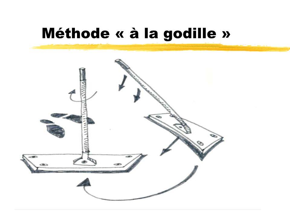 Méthode « à la godille » Pour les deux techniques