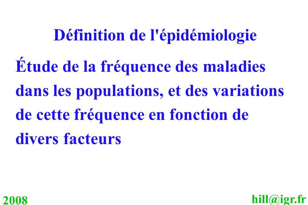 Définition de l épidémiologie