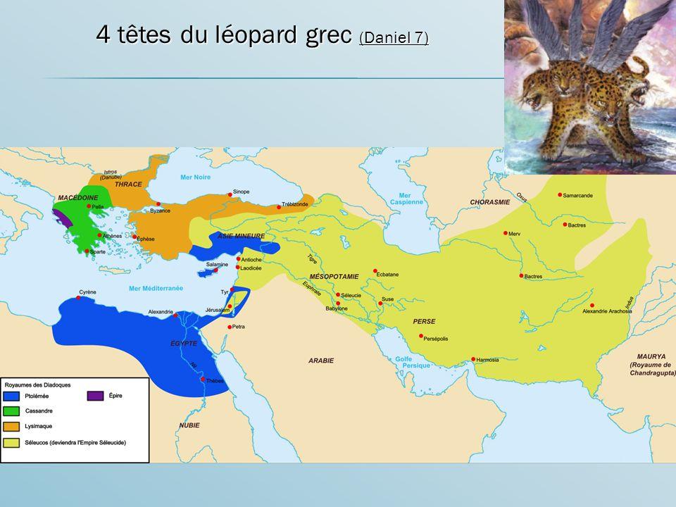 4 têtes du léopard grec (Daniel 7)