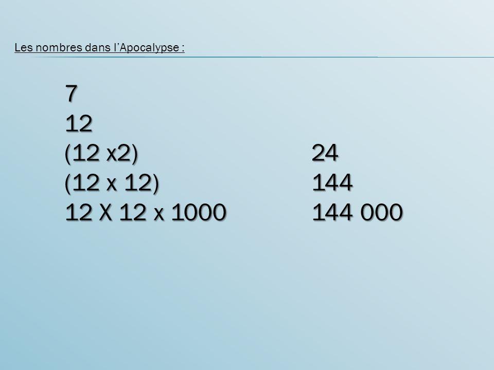 Les nombres dans l'Apocalypse :