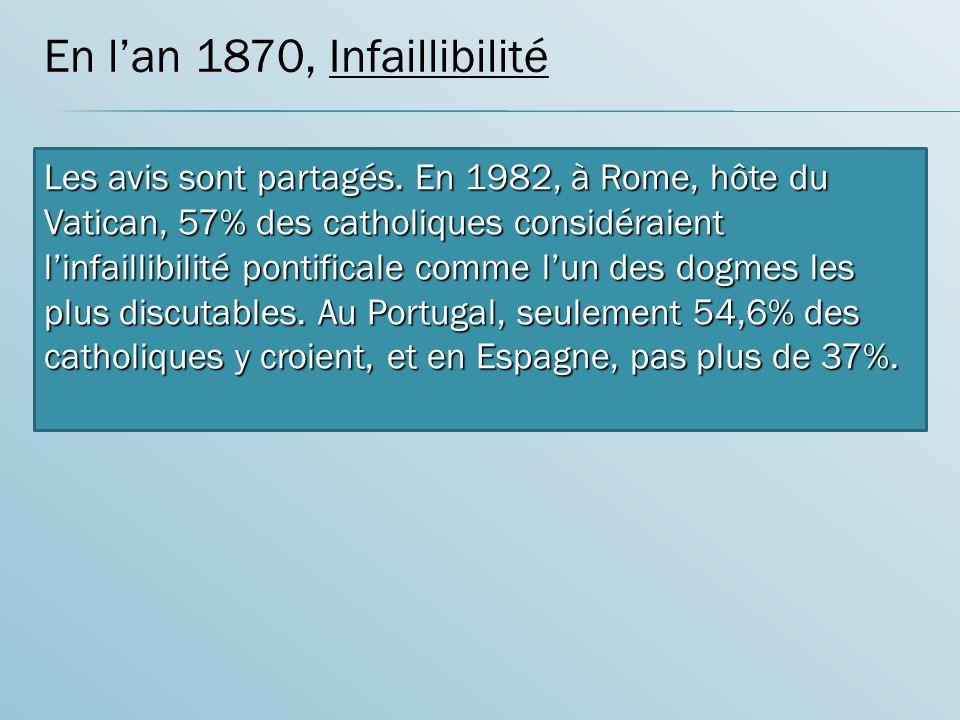 En l'an 1870, Infaillibilité