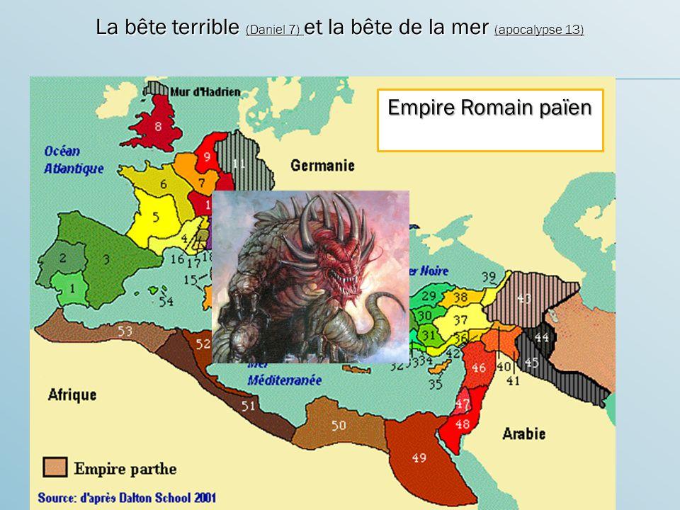 La bête terrible (Daniel 7) et la bête de la mer (apocalypse 13)