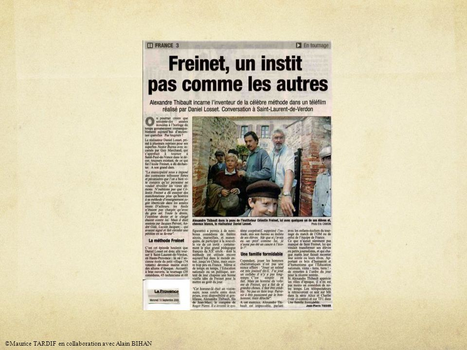 ©Maurice TARDIF en collaboration avec Alain BIHAN